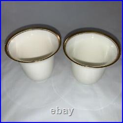 11 Lenox Porcelain China Gold Rim Demitasse Tea Egg Cup Liner Insert Green Mark