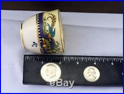 14pc. Vintage Lenox Florida China Demi Cups Gold Rim Dinnerware Bird