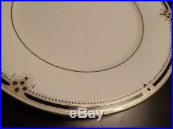 30 pc NORITAKE Noritake Evening Gown 7738 Fine China Service 6 Black Ivory Gold
