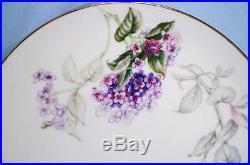 3 Sone China Lilac Dinner Plates Porcelain Gold Trim Purple Lilacs Vintage Japan
