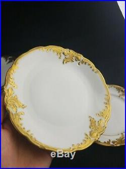 44 Pcs WAWEL Polish White And Gold Dinnerware China Set Poland Porcelain