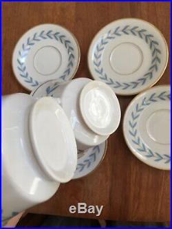 4 Mint Syracuse China Old Ivory Cup Saucer Porcelain Sherwood Gold Gilt Set