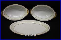 56pc THOMAS Bavaria Porcelain China with Laurel Band Gold Trim, Svc for 11 (128)