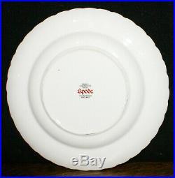 5 Spode Fleur De Lys Pattern Bone China Gold Salad Plates 8 NM