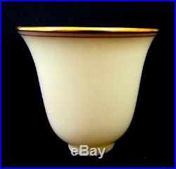 (6) Lenox Porcelain China Sterling Silver Demitasse Cups and Saucers Gold Rim