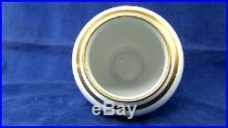 7 Faberge Vase- Imperial Gold China Porcelain Enameled Easter Egg Vase EUC