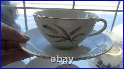 85 Pcs Embassy China USA Wheat Pat Gold Black Dinner Set Serves 10 + Serv Pcs