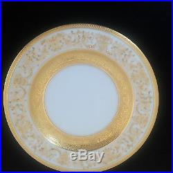 Antique Gold Porcelain/China Dinnerware 12 Place Settings Painted by Black Night