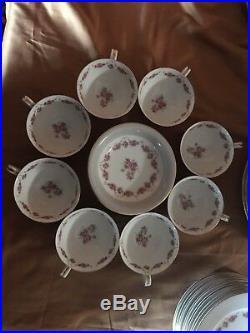 Antique NORITAKE M China Roses Gold Trim 29-piece Tea and Dessert Set -1940's