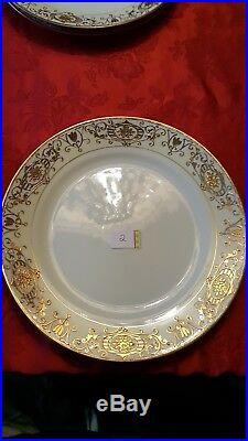 Antique Noritake Nippon 16034 hand painted 24K Gold Christmas Ball China Set