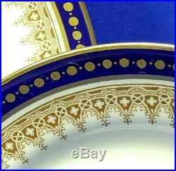 Antique Spode Copelands China 34 pc Blue Gold Coffee Tea Set #9791 c1908 VGC
