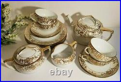Antique Tea and Luncheon Set #16034 Christmas Ball by Noritake