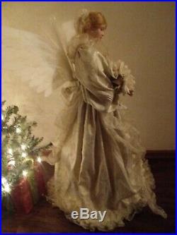 BEAUTIFUL Vintage Fiber Optic ANGEL Floor Standing 36 Christmas