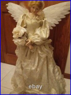 BEAUTIFUL Vintage Fiber Optic ANGEL Floor Standing 36 Christmas Tested Works