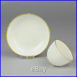 Ca 1800 Dutch Oude Amstel Porcelain Cup Saucer Monochrome + Gold