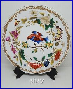 Chelsea House Porcelain Potsdam Bird Charger Plates 12 Gold Border Set 2 H700