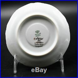 Faberge Gold, Enamel & Jeweled Demitasse Cup Saucer Limoges Porcelain China 24K
