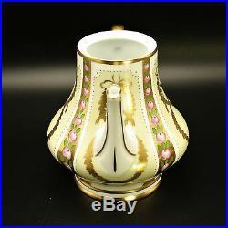 Faberge Gold, Enamel & Jeweled Tea Coffee Pot Limoges Porcelain China 24k