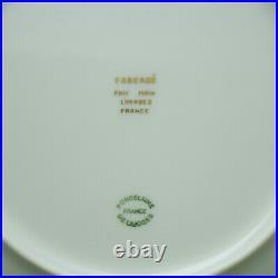 Faberge Salad Plate Limoges Porcelain China 24K Gold Trim