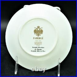 Faberge Verneuil Bread & Butter Plate Limoges Porcelain China 24K Gold Rim