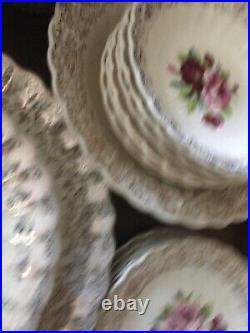 Fairbanks Ward Vintage China Aristocrat 22K Gold Almost Complete Dinner Set