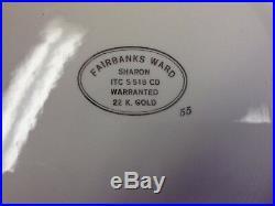 Fairbanks Ward Vintage China'Sharon' 22K Gold Almost Complete Dinner Coffee Set