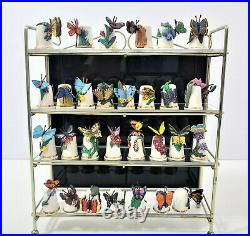 Fine Bone China Thimble with Pewter 3-D Butterfly & Gold Trim Display Lot of 30