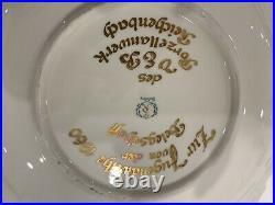 GERMAN WEIMAR Echt CHINA PORCELAIN Cream/Gold-Serving Platter