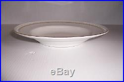 Gibson Housewares China Plates & Bowls White With Gold Trim Set Of 12