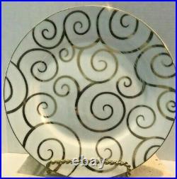 Gold Swirl By Pier1 Salad Plate Gold Swirls On White Gold Trim Porcelain 8 Pcs