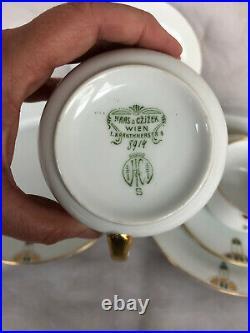 Haas Czjzek Wien Austria Karntner Strasse VINTAGE Art Deco Porcelain China Set