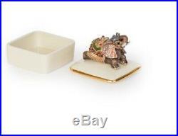 Jay Strongwater PRIYA Porcelain Box 14k Gold