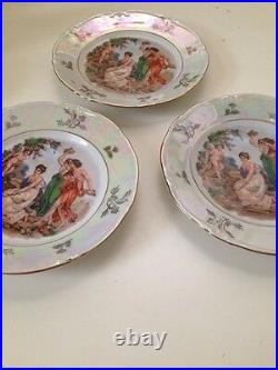 Kahla Fine China Antique Vintage Madonna Gold Trim Salad Plate Sm Dinner Plate