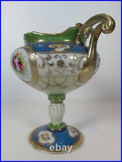 Kinjo China Richly Gilded Nippon Noritake Porcelain Vase, Appr. 21cm Tall
