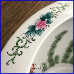 Large Chinese Fish Bowl Jardiniere Hand painted Gold Fish Organda 20th Century
