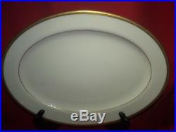 Lenox China Tuxedo Gold Oval Platter MINT