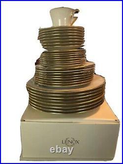 Lenox Eternal Gold Banded Bone China 9- 5-Piece Place Settings