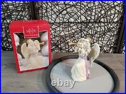 Lenox First Blessing Nativity ANGEL WITH TRUMPET 2013 PORCELAIN GOLD GILDING