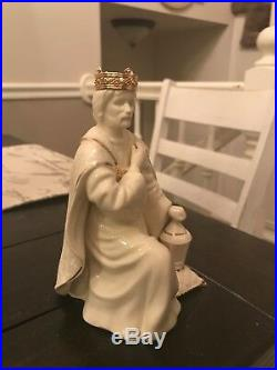 Lenox opal innocence Christmas white & gold nativity set fine china, porcelain