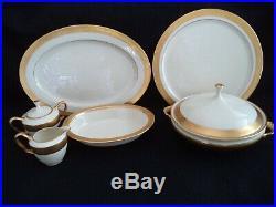 Lenox porcelain china Westchester 16-inch oval platter wide gold band