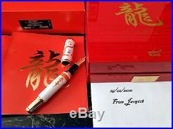 MONTBLANC DRAGON F. PEN CHINA YEAR GOLDEN 888 RARE, MEISSEN PORCELAIN GOLD 18 Kt