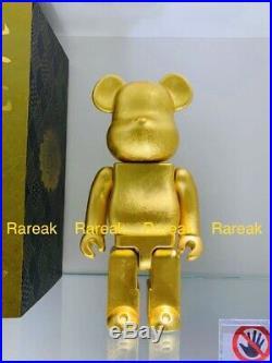 Medicom Be@rbrick Kutani Kanazawa Gold Leaf 400% Ceramics Porcelain Bearbrick