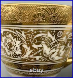 Minton Porcelain Ball Demitasse Cup & Saucer Set Gold Bone China Antique #4397