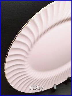 Minton Shell Pink & Gold Swirl 17.75 XL Platter Bone China S613 VINTAGE-RETIRED