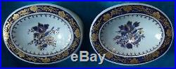 Pair Chinese Export Porcelain Enameled Trencher Salts Circa 1795 Jiaqing Period