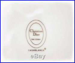 Pair of Christian Dior Salad plates, 8.25, Casablanca, Fine China 24K Gold Trim