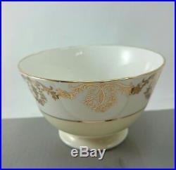 RANELLA LEWIS Antique Gold Chintz Lustre FINE Bone China ENGLAND 27 pcs. SET