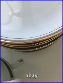 Royalton China Co Japan Translucent Porcelain China Set White Gold Trim 64 pcs