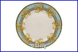 Royalty Porcelain 16-pc 24K Gold Greek Key Dinner Set, Bone China Porcelain