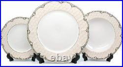 Royalty Porcelain Antique Gold 57-pc Dinnerware Set'Sandra', Bone China